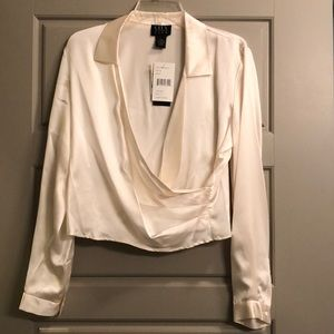Women ivory blouse size XL